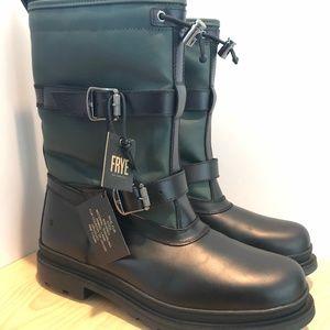 Frye Men's Waterproof Snow Boots Lamb Fur SZ12 Blk